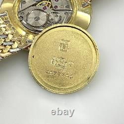 18K Gold Tri Color Universal Geneve Rare Ultra Thin Mechanical Vintage Watch