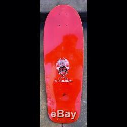 1986 Ultra Rare Nos X-caliber Skateboard Deck From Venice Ca. Not A Reissue