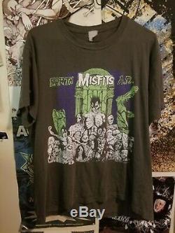 1990 Vintage Misfits T Shirt USA Single Stitch DANZIG BAND Earth AD ULTRA RARE