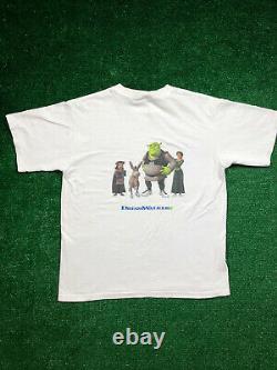 1/1 Ultra Rare Vintage 2001 Shrek The Movie Promo Dreamwalkers Graphic T Size M