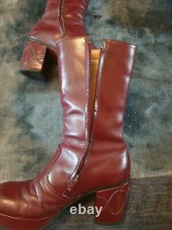 70's vintage platform boots leather the real deal ultra rare gr8 investment