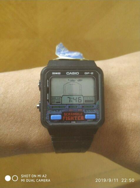 Aa Ultra Rare Vintage Casio 685 Gf-2 Men's Digital Watch 1980s Scramble Fighter