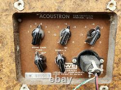 Acoustron LWE-II vintage speakers (Louis W. Erath) ULTRA RARE