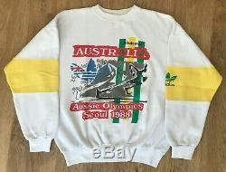 Adidas Australia Aussie Olympics Seoul 1988 ultra rare vintage sweatshirt size S
