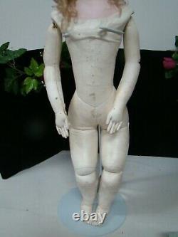 Antique Jumeau Portrait Poupee Peau with Adult Face, Ultra Rare and Awesome