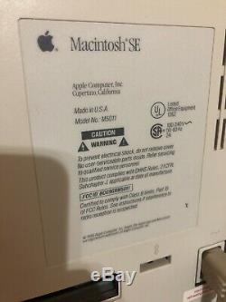 Apple Macintosh SE FDHD Model M5011 PC Vintage Computer + Ultra Rare Dual Floppy