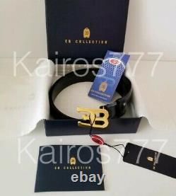 BNWT ULTRA RARE Ettore Bugatti EB Collection Vintage Black EB Logo Belt