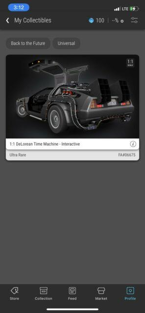 Back To The Future Delorean Ultra Rare #06675 Veve 3d Digital Collectible