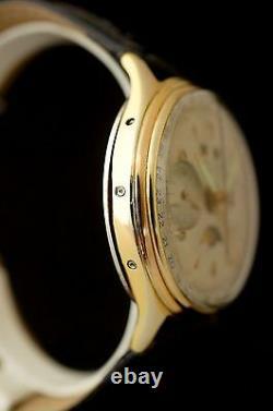 Baume et Mercier ULTRA RARE Landeron 48 Full Calendar Mondphase Chronograph