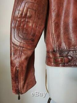 Belstaff Leathermaster 1970 Vintage Leather Jacket, Antique Red, Xl, Ultra Rare