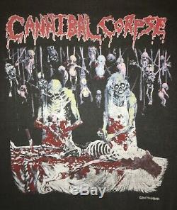 CANNIBAL CORPSE OG'Butchered at Birth' 1991 Tour Ultra Rare Vintage Sweatshirt