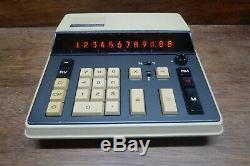 Canon Canola L121 Ultra Rare Nixie Tube Vintage Calculator Works Perfectly