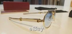Cartier Giverny Sunglasses Vintage 18k Gold Platinum Ultra Rare 53/22 (Not Wood)