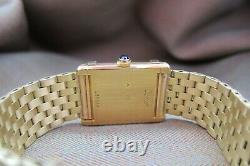 Cartier Vintage Tank Chinoise 1970 With Original Bracelet Ultra Rare