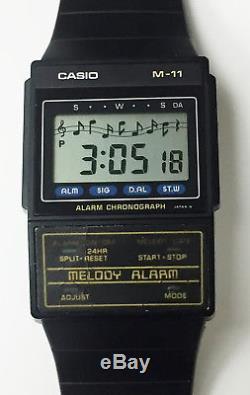 Casio M-11 Rare Melody Alarm Genuine Vintage Wrist Watch Ultra Thin Circa 1986