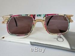 Cazal Vintage Gold Sunglasses Model 876 Col. 780 ULTRA RARE Art Deco Nouveau