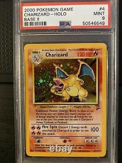 Charizard Holo Base Set 2 Psa 9 Mint 4/130 2000 Rare Pokemon Vintage Wotc