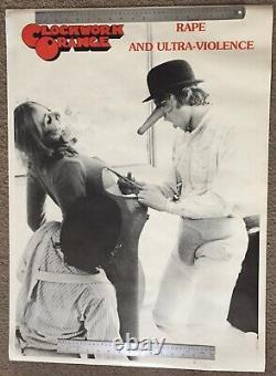 Clockwork Orange Ultra-Violence Rare Original Poster Vintage