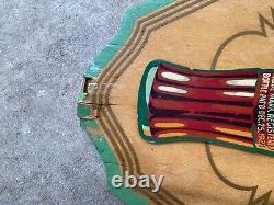 Coca Cola 1930 Original Kay Display Triangle Sign Ultra Rare Wood Sign Vintage