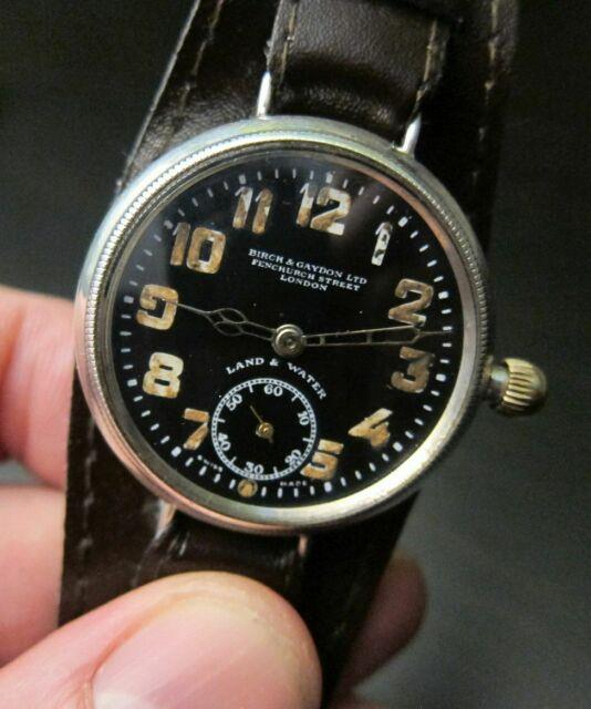 Collectible Ultra Rare Silver Zenith Birch & Gaydon Land & Water Trench Watch