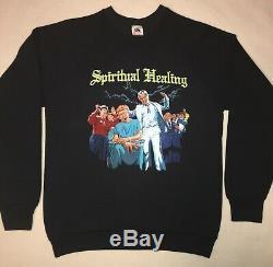 DEATH 1990 Spiritual Healing Ultra Rare Vintage Sweatshirt Large NOS