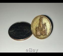 Disney Vintage Disneyland Sleeping Beauty Castle 1 Year Service Pin Ultra Rare
