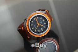 Edox Hydro-sub Ultra Rare Vintage Diver First Wr500 Ever 1965