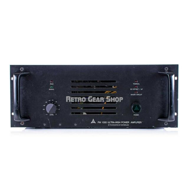 Fm Acoustics 1000 Ultra-high Power Amplifier Rare Vintage Stereo Power Amp #2