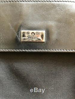Gucci Ultra Rare Vintage Sherry Web Black Belt Bag Fanny Pack Waist Pouch