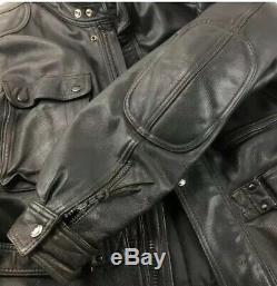 HEIN GERICKE PARIS TO DAKAR Leather Touring Jacket Black VTG Ultra Rare Sz L XL