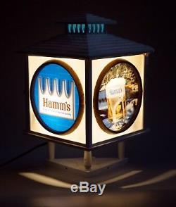 Hamm's Beer Sign Cash Register Light 1960's Vintage 3-sided Ultra Rare
