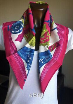 Hermes Carre Foulard Scarf 70 Etriers New With Tag Ultra Rare Vintage Silk