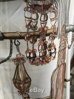 Hermes Carre Foulard Scarf 90 Soie Silk 100% Vintage Ultra Rare