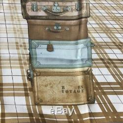 Hermes Foulard Carre 70 H En Voyage Soie Vintage Ultra Rare