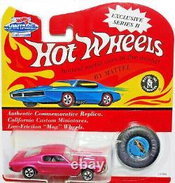 Hot Wheels 1993 Vintage Series Pink Custom Redline Mustang Ultra rare