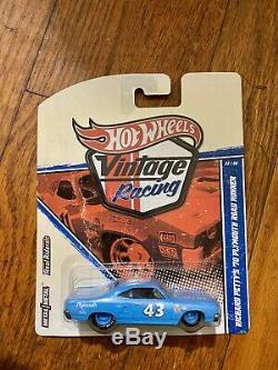 Hot Wheels Vintage Racing Richard Petty 70 Plymouth Road Runner Ultra Rare+case