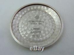 IWC SCHAFFHAUSSEN SOLID PLATINUM AUTO DATE CAL853 ULTRA RARE VINTAGE 60's