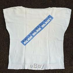Iggy Pop shirt/ SIGNED LP! 1986 Blah Blah Blah vintage tour punk ULTRA RaRE