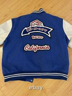 In-n-out Ultra Rare Vintage Burger Varsity Letterman Jacket Adult L Made In USA