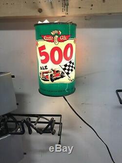Indy 500 Vintage COOKS 500 ALE BEER Rotating Motion Lamp! Ultra Rare! VTG