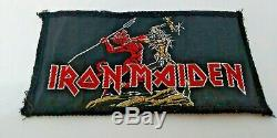 Iron Maiden Run To The Hills ULTRA RARE Sew On Patch 4 X 2 VINTAGE
