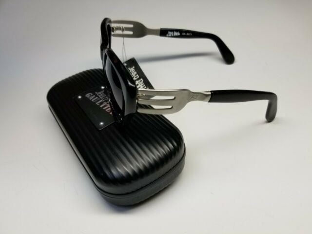 Jean Paul Gaultier'97 Silver Fork Temple Uv Sunglasses 56-3271 Ultra Rare Case