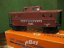 Lionel Postwar 6447 O Scale Pennsylvania Porthole Caboose Vintage ULTRA RARE +OB