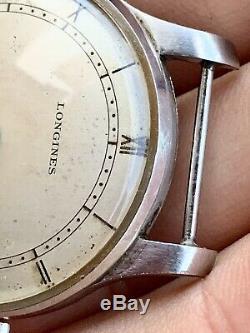 Longines Coin 35mm ULTRA RARE Calatrava Dial Totally Genuine EFCO Steel Vintage