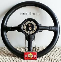 MOMO vintage Porsche design leather steering wheel 365mm ULTRA RARE 911 Carrera