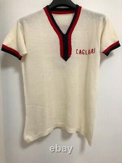 Maglia Cagliari Shirt Jersey Match Worn Issued Anni 60/70 Vintage Ultra Rare