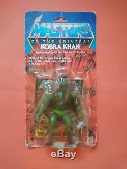 Masters of the Universe MOTU Rotoplast Vintage Kobra Khan Venezuela ultra rare