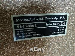 Monitor Audio Ma 4 Series II Boxen Loudspeakers Vintage Ultra Rare