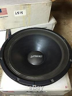 NEW Old School Earthquake 18 Competition Subwoofer, ULTRA Rare, Vintage, USA