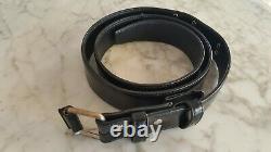 NEW. Ultra Rare Stylish HELMUT LANG Black Leather Belt. Vintage Collection